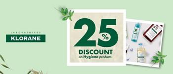 Klorane | 25% off on hygiene care!