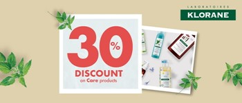 30% off natural days | klorane care