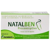 natalben preconceive maternity fertility supplement 30caps