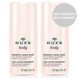 body 24h desodorizante roll on proteção peles sensíveis 2x50ml com 50% dsc 2ª