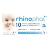 Rhinophar Filtros descartáveis 10 unidades +  1 adaptador suave