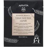 Apivita Express beauty alfarroba máscara tecido detox e purificante 20ml
