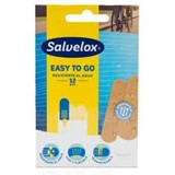 salvequick transparent plastic plasters easy to go 12units