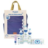 blue maternity backpack
