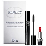 coffret diorshow pump'n'volume 090 black pump 6ml + mini rouge dior #999 1.5g