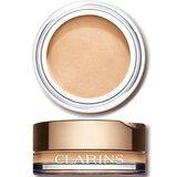 Clarins Ombre velvet sombra em creme 01 white shadow 4g