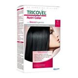 tricovel nutri permanent hair color 40+60+2x12ml   1 - black