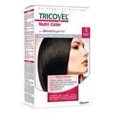 tricovel nutri permanent hair color 40+60+2x12ml | 3- dark brown