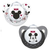 mickey & minnie latex soother 6-18months assorted colors 2units