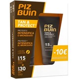 tan and protect spf15 loção intensificadora do bronzeado 150ml + spf30 150ml