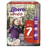 up & go diapers 16-26kg, 16 units