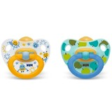 classic happy days kids soother latex 0-6m 2units assorted colors