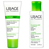Uriage Hyséac mat emulsion for oily to combination skin 40ml + água micelar 100ml