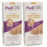 pedisilk medical tratamento antifúngico para unhas 2x7ml