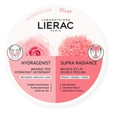 Lierac Supra radiance máscara iluminadora duplo peeling + hydragenist máscara 2x6ml