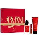 coffret sì passione eau de parfum 50ml+lip maestro 400 15ml+loção de corpo 75ml