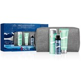 gift set aquapower 75ml+shower gel 75ml+after-shave foam 50ml+bag