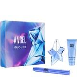 coffret angel eau de parfum refill. 25ml + pincel perfumado 7ml+loção corpo 50ml