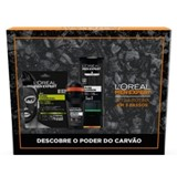 coffret men expert total clean gel de banho 300ml+deo 50ml+máscara 30ml