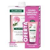 Klorane Shampoo with peony irritated scalp 400ml offer ap gel peony 50ml