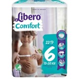fraldas comfort 13-20kg, 22 unidades