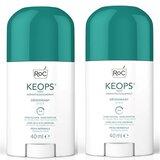 Keops stick desodorizante transpiração suave 2x40ml