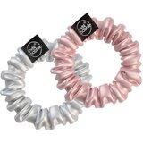 spiral hair ring sprunchie ''bella chrome'' 2units