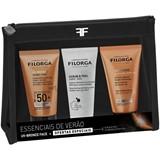 Filorga Uv-bronze fluido solar spf50 40ml + uv-bronze after-sun 50ml + scrub&peel 50ml