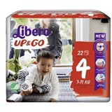 up & go diapers 7-11kg, 22 units
