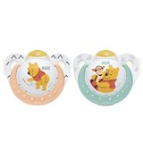 winnie the pooh silicone soother 6-18months assorted colors 2units