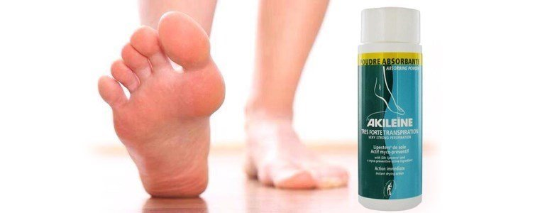 akileine po anti transpirante anti odor pes calcado