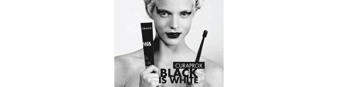 curaprox black is white whitening toothpaste