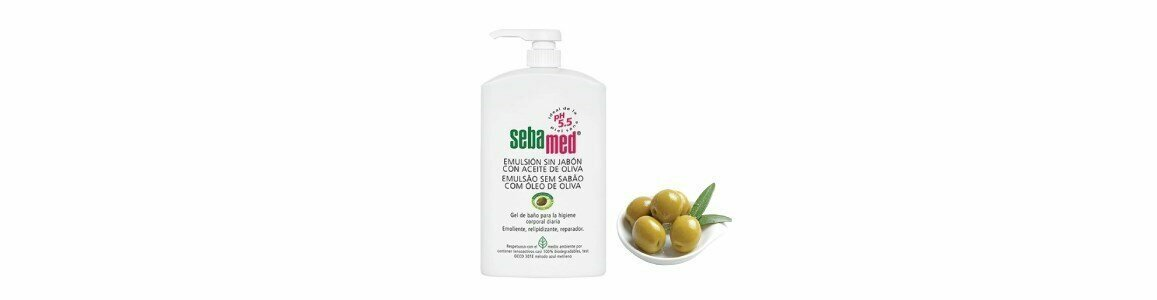sebamed body face cleansing emulsion without soap olive oil 1l