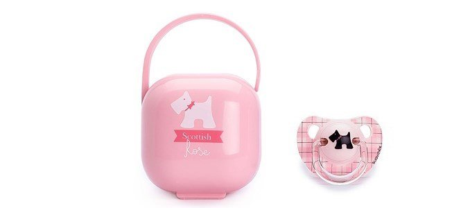 suavinex scottish caixa rosa transporte chupetas