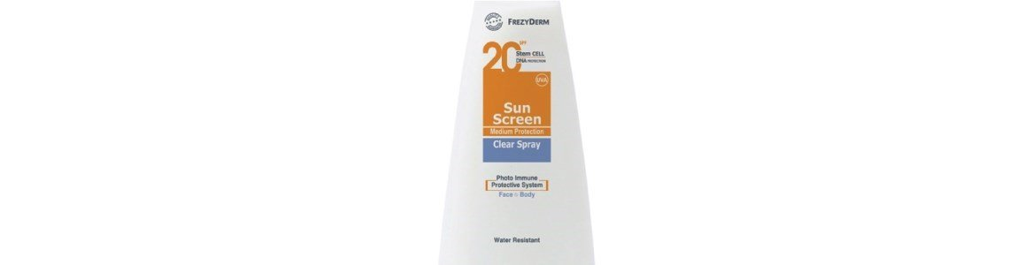 sun screen clear protetor solar corpo spf20