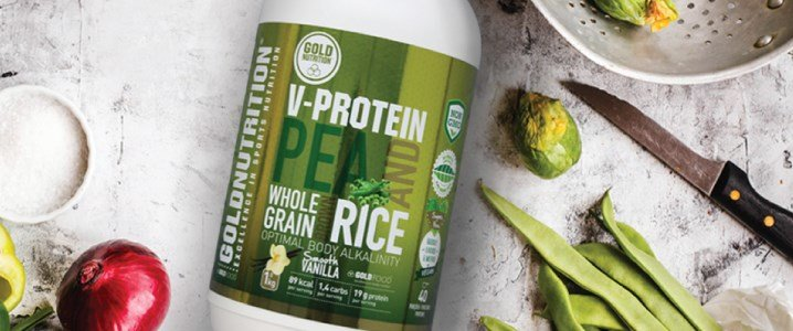 v protein ervilha arroz castanho